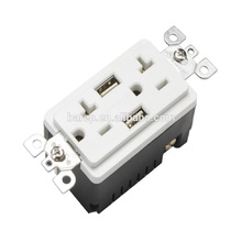 TR-BAS20-2USB Wide ranged best economic usb outlet wall power socket